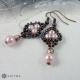 Náušnice malé perličkové růžové