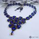 Souprava krajková královsky modrá