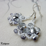 Náušnice stříbrné svatební květy