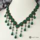 Elegantní úzký náhrdelník malachit