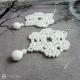 Náušnice sněhobílá krajka