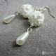 Náušnice drobné perly a krystal