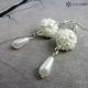 Náušnice drobné perlové