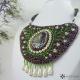 Náhrdelník jarní břízka v perlových květech 2